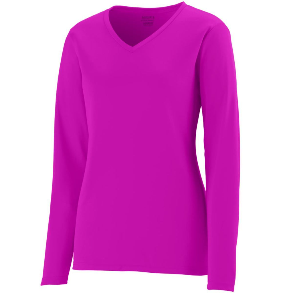 Augusta Sportswear Women Long Sleeve Wicking T Shirt 1788