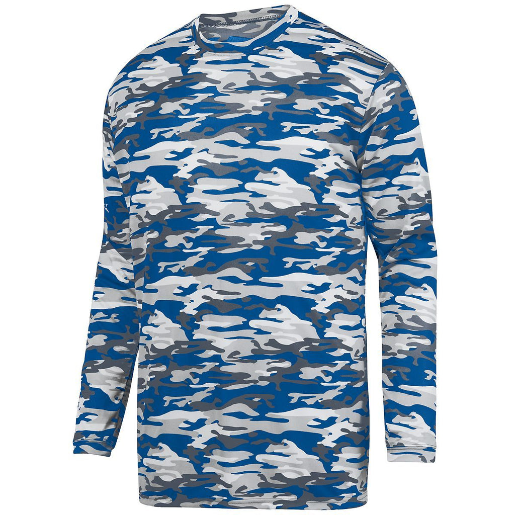 Augusta Sportswear Youth Mod Camo Long Sleeve Wicking Tee 1808 C
