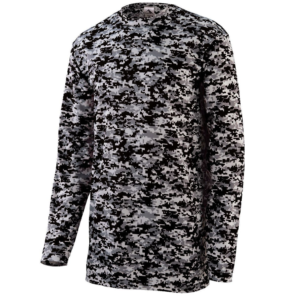 Augusta Sportswear Adult Digi Camo Wicking Long Sleeve T Shirt 2788