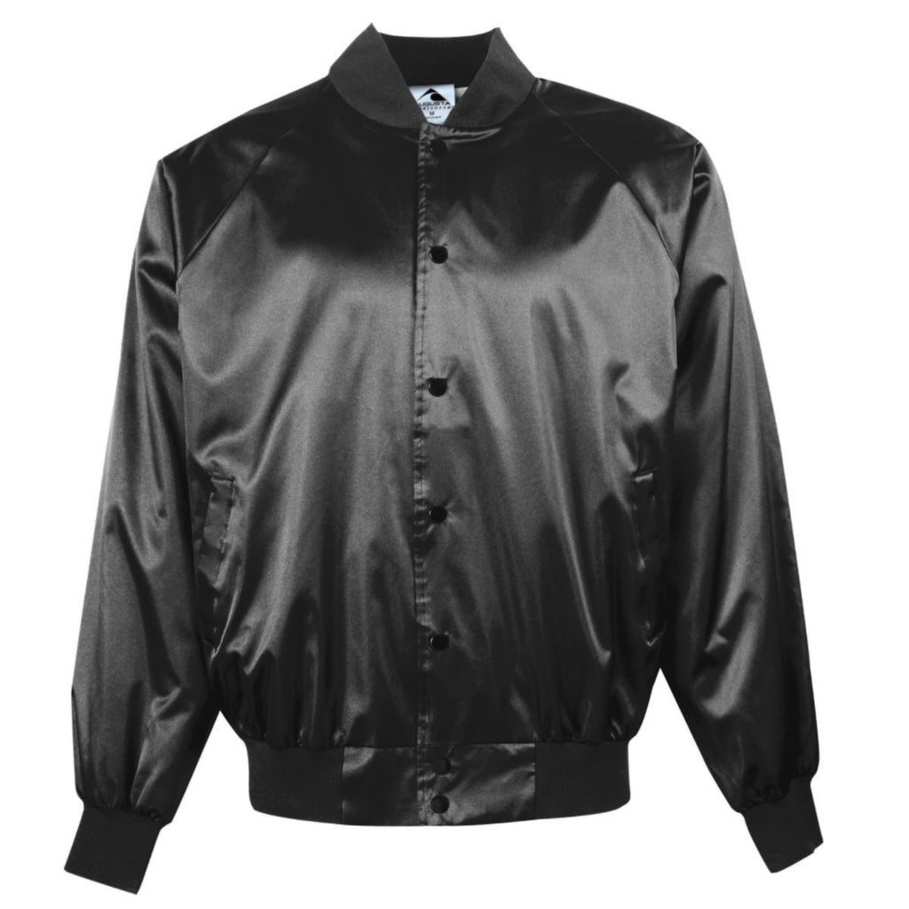 Augusta Sportswear Adult Satin Baseball Jacket Solid Trim 3600