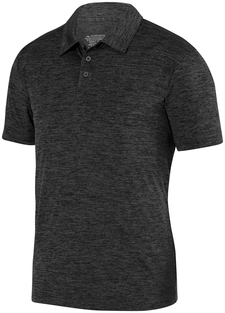 Augusta Sportswear Adult Intensify Black Heather Polo 5408 C