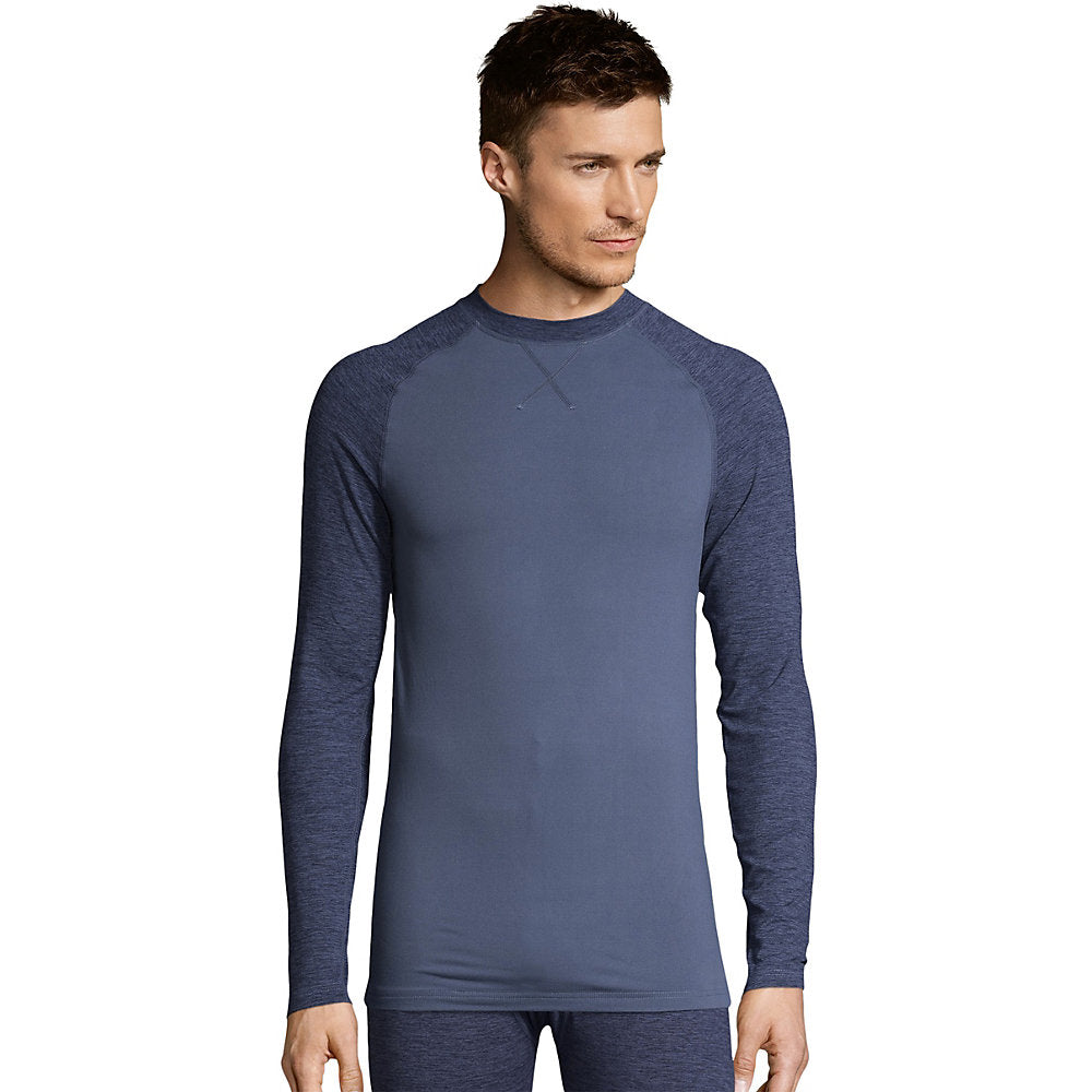 Hanes Men's Space Dye 4-Way Stretch Thermal Crewneck - 125462