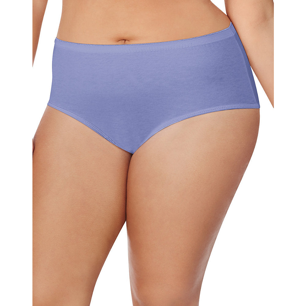 Just My Size Cotton TAGLESS Brief Panties — 8-Pack - 1610P8
