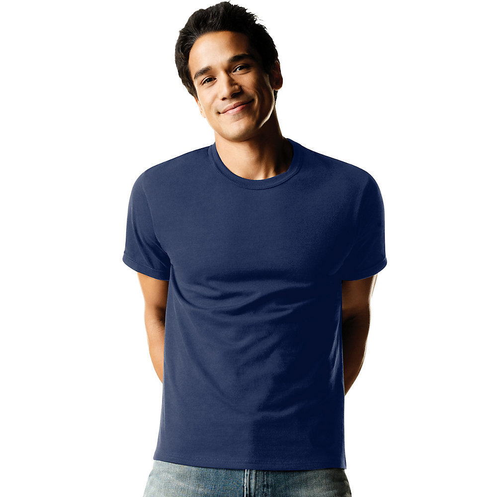 Hanes ComfortSoft TAGLESS Men's Dyed Crewneck Undershirt 4-Pack - 2165P4