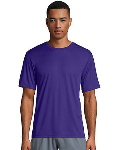 Hanes Cool DRI TAGLESS Men's T-Shirt Purple