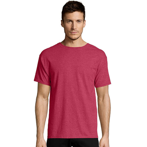Hanes ComfortBlend EcoSmart Crewneck Men's T-Shirt Heather Red