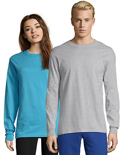 Hanes Adult Beefy-T Long-Sleeve T-Shirt