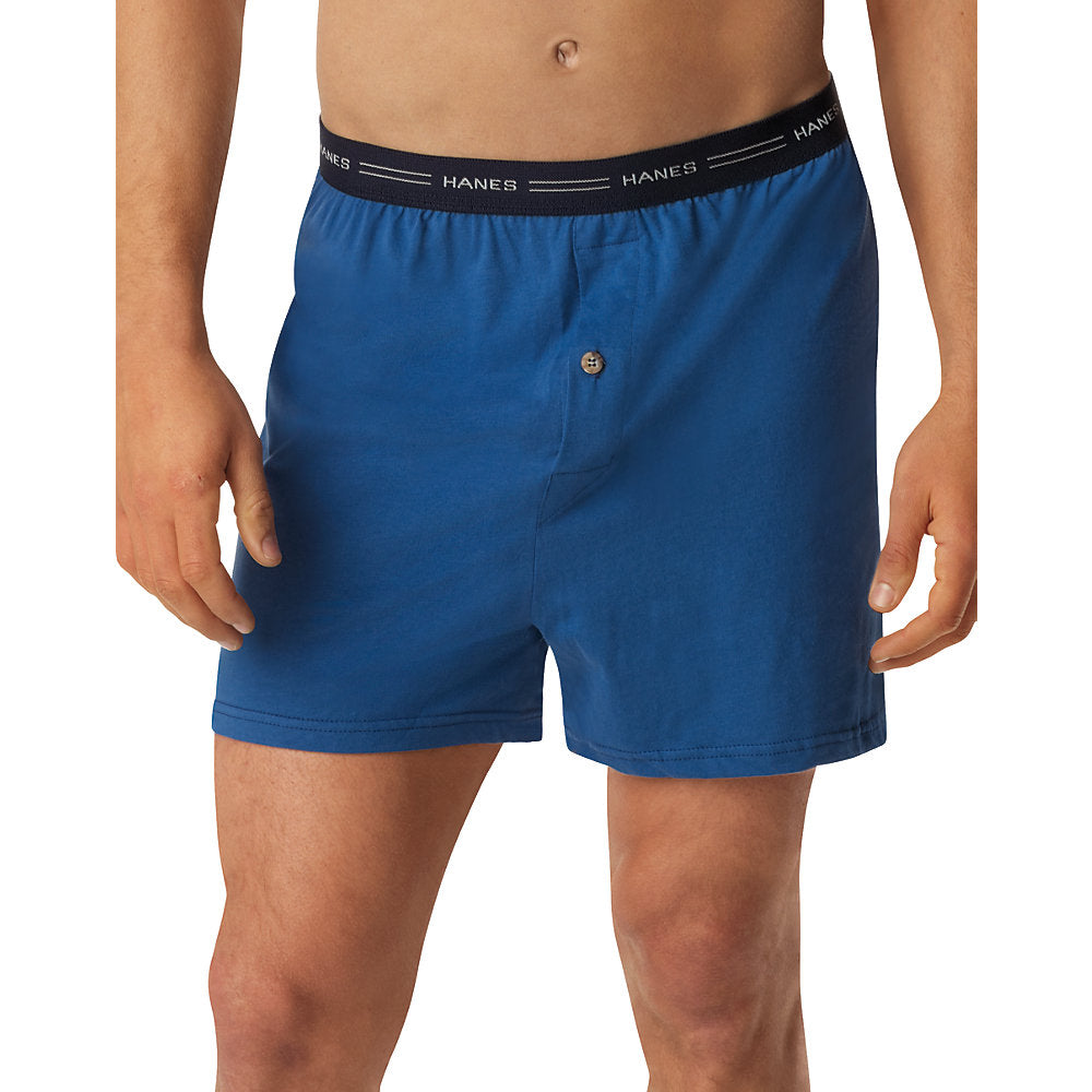 Hanes Men's TAGLESS ComfortSoft Knit Boxer with Comfort Flex Waistband 5-Pack - 548BX5