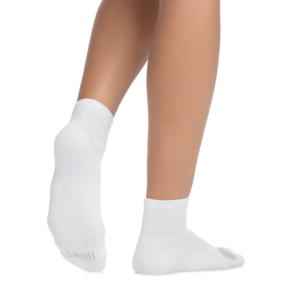 Hanes Women's Cool Comfort Ankle Socks Extended Sizes 8-12, 6-Pack - 681V6P