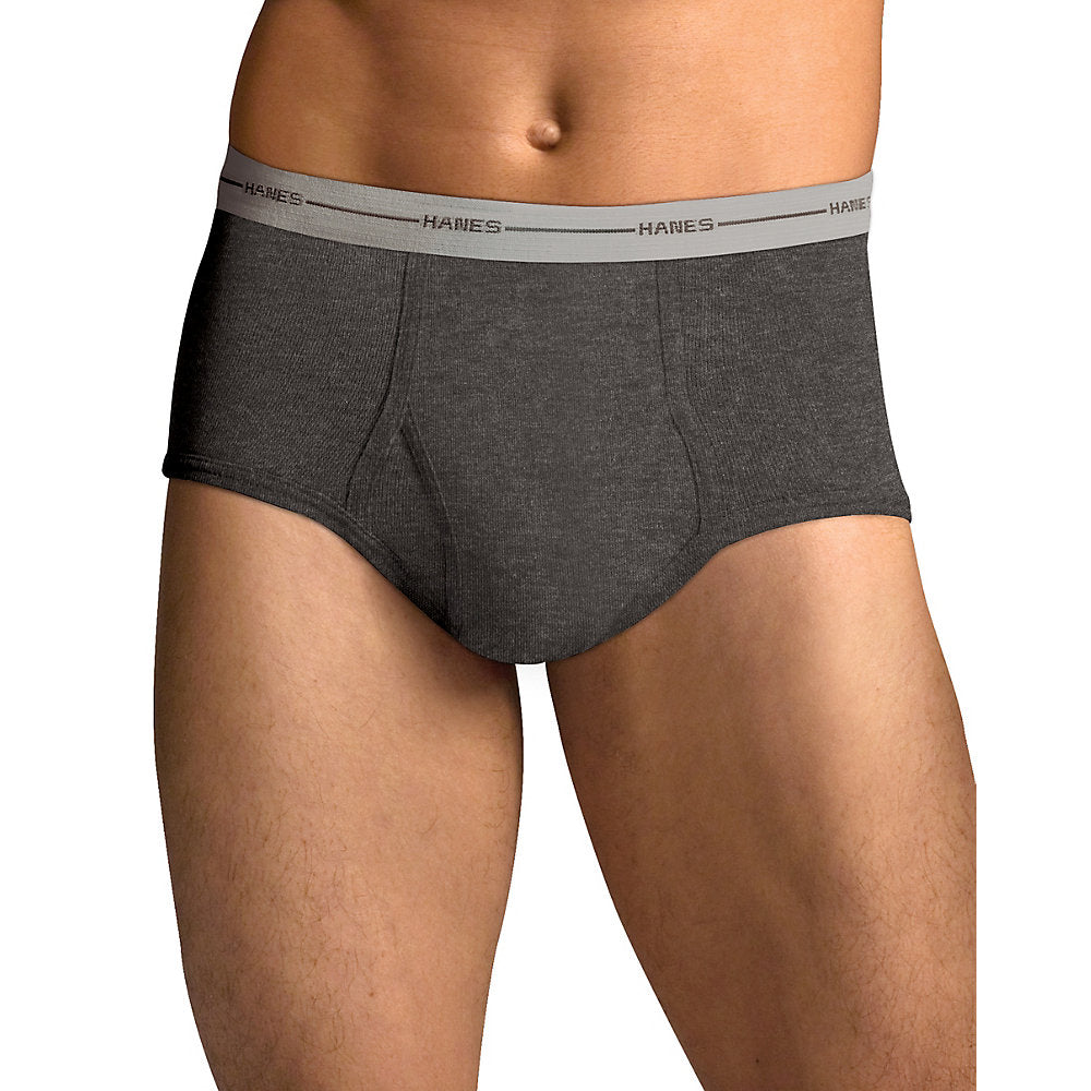 Hanes Men's TAGLESS ComfortSoft Full Rise Dyed Brief with Comfort Flex Waistband 6-Pack - 7822P6