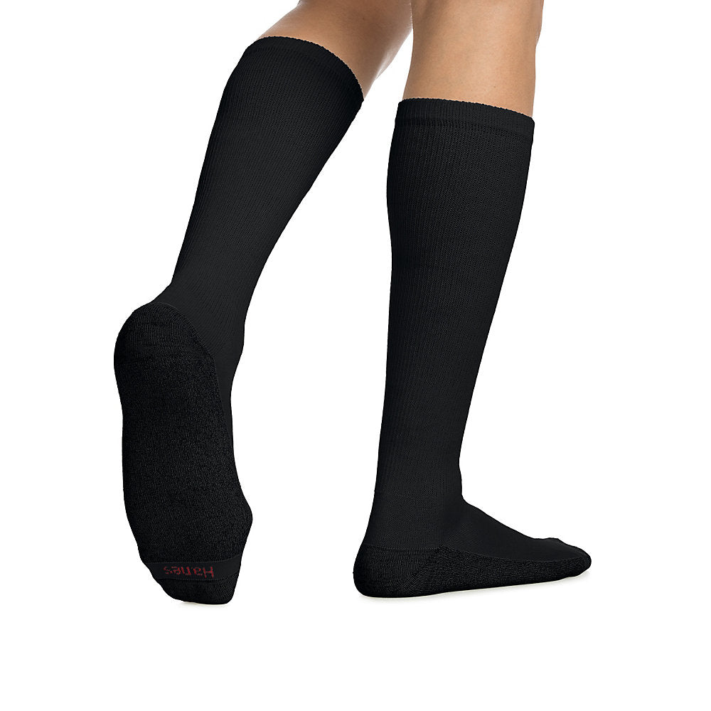 Hanes ComfortBlend Over-the-Calf Crew Socks 6-Pack - 909/6