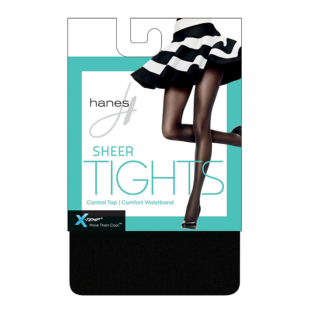 Hanes X-Temp Sheer Control Top Tights with Comfort Waistband - HFT011
