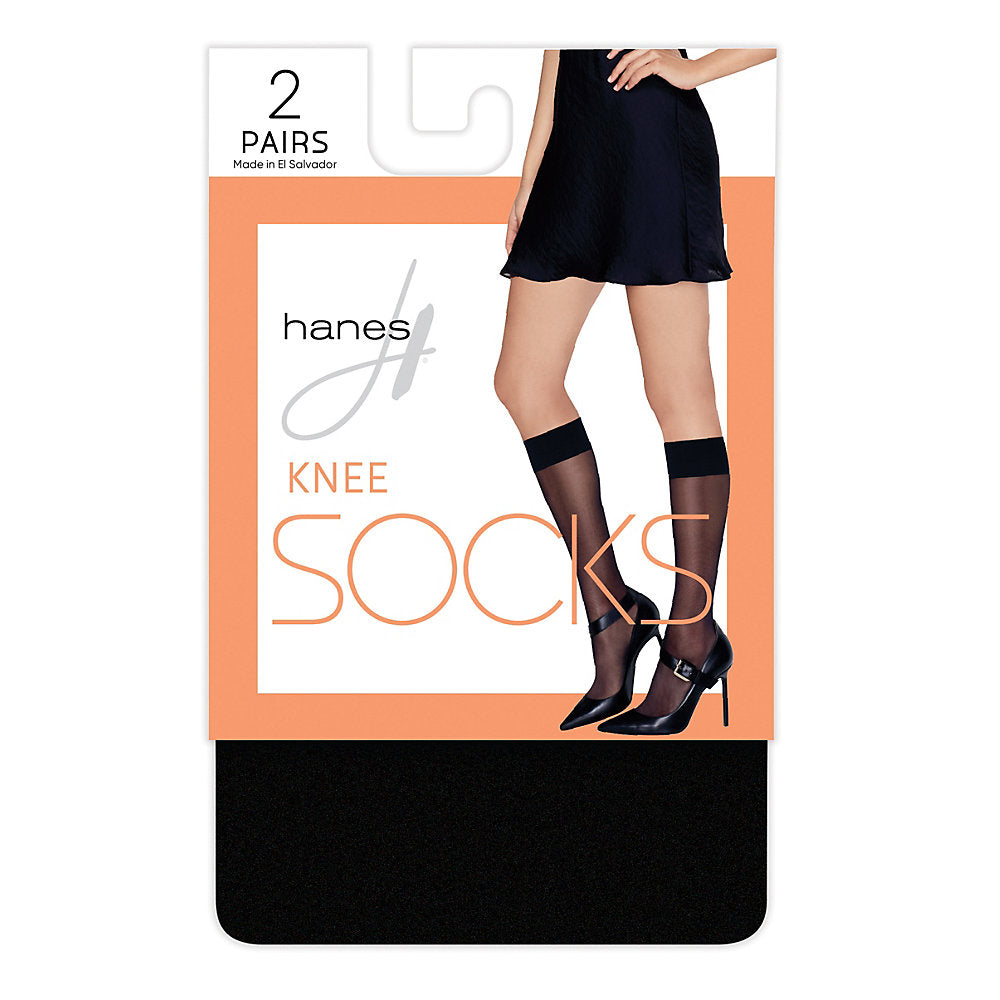 Hanes Knee High Socks, 2-pack - HFT021