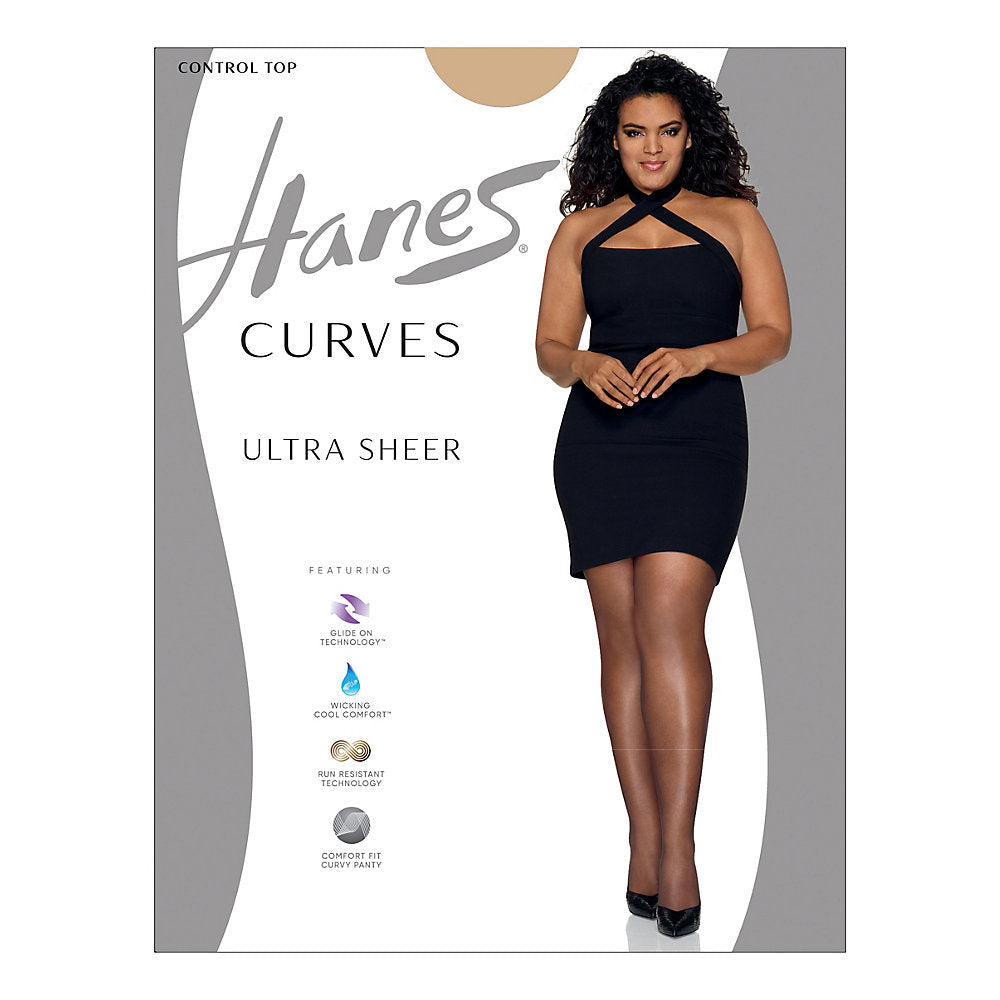 Hanes Curves Ultra Sheer Control Top Legwear - HSP001