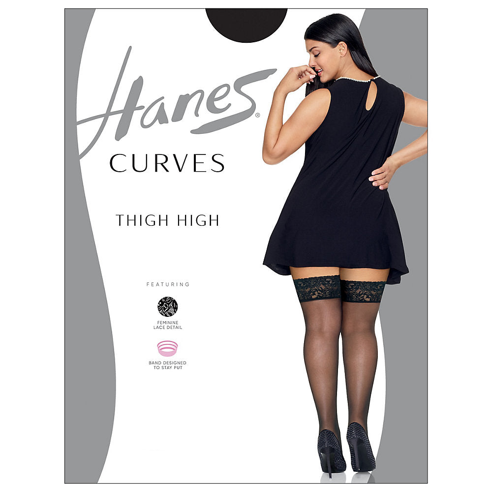 Hanes Curves Lace Thigh High - HSP015