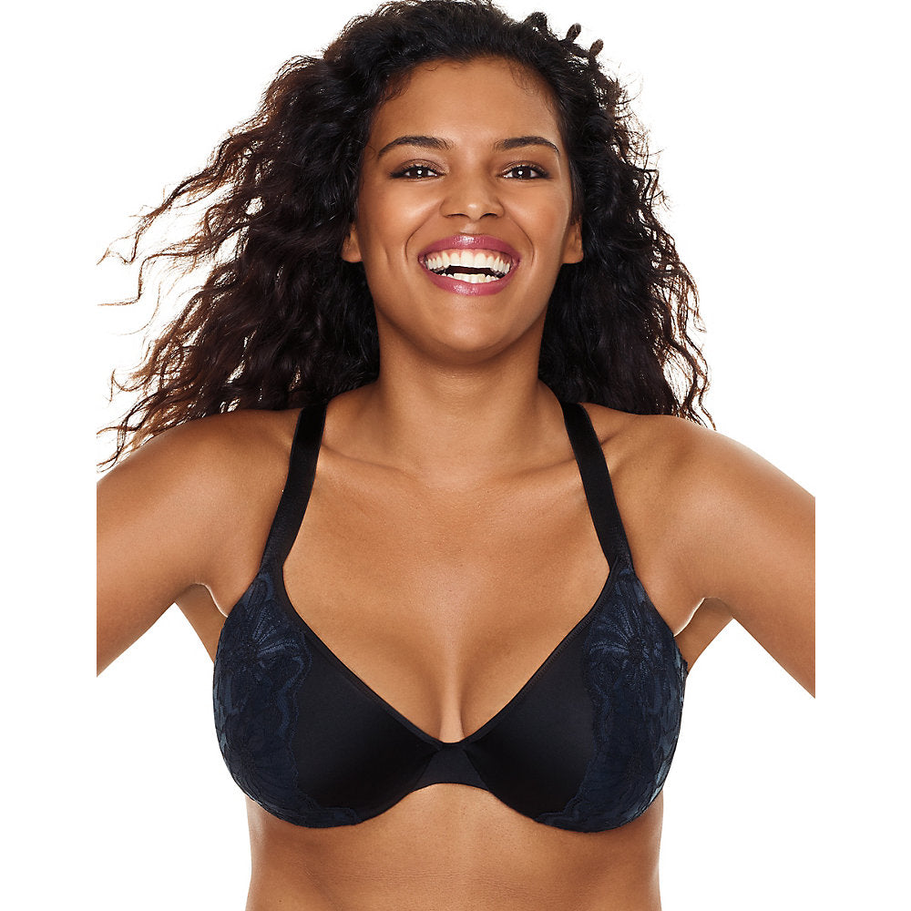 Just My Size Embellished Plunge Foam UW Bra - MJ1204