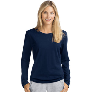 Hanes Women's Long-Sleeve Crewneck T-Shirt - O9133