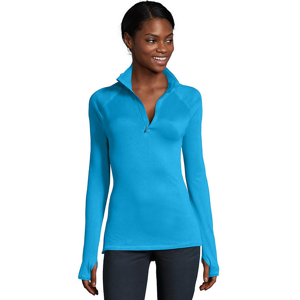 Hanes Sport 153 Women's Performance Fleece Quarter Zip Sweatshirt - O9325