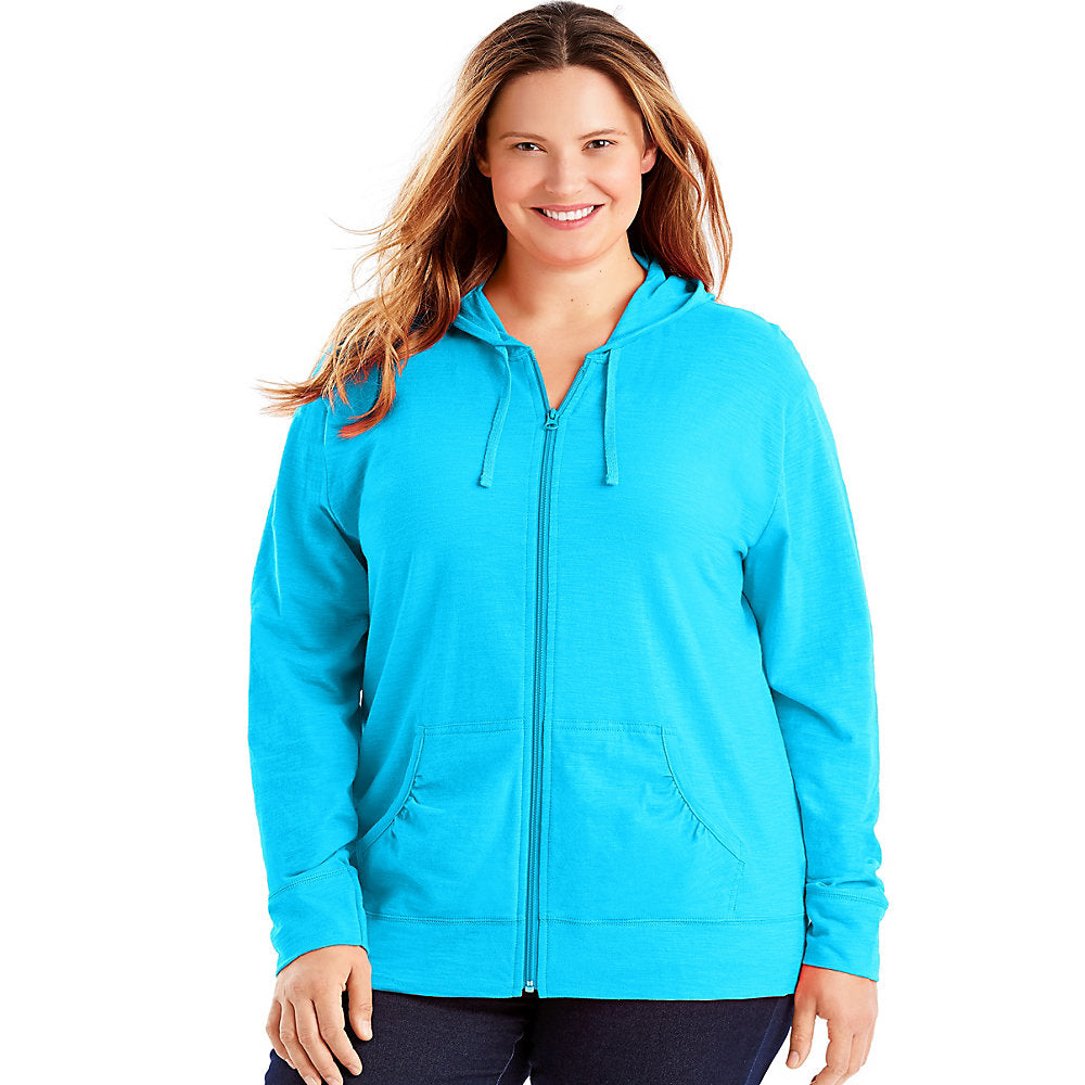 Just My Size Slub-Cotton Full-Zip Women's Hoodie - OJ168