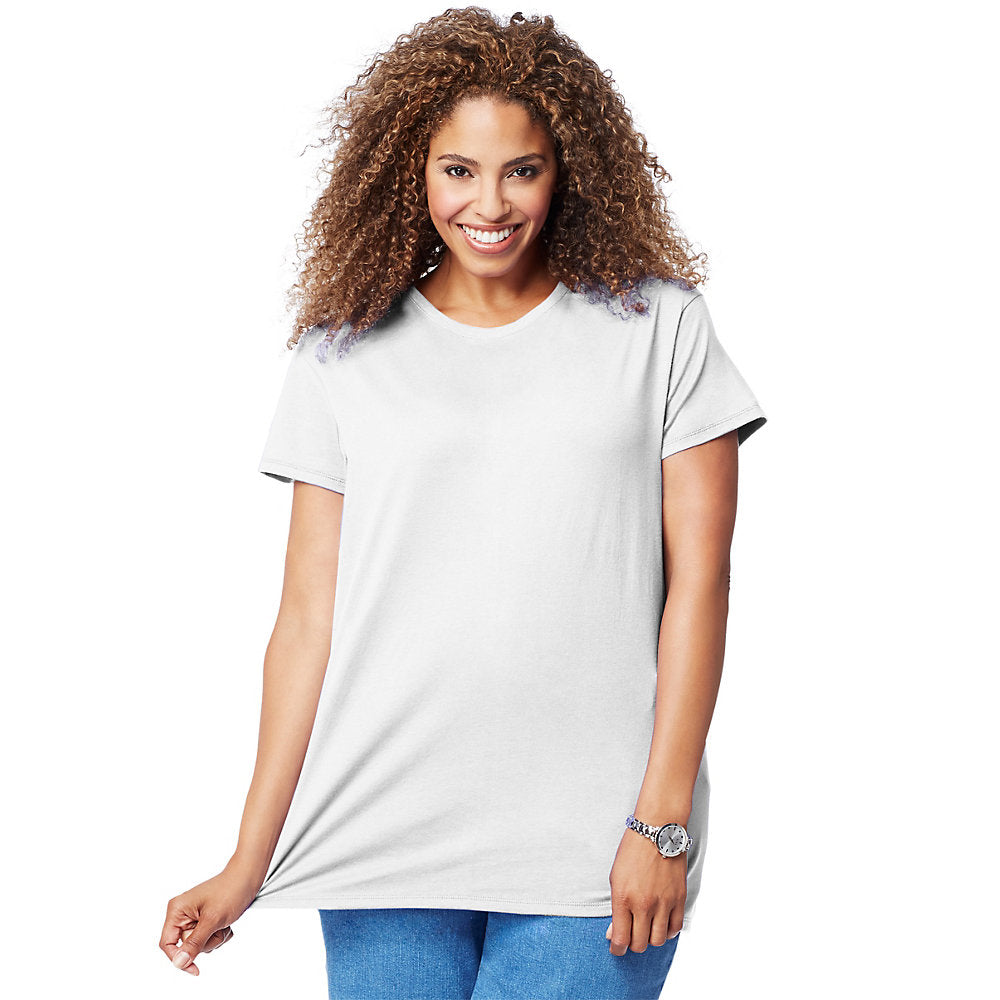 Just My Size Cotton Jersey Short-Sleeve Scoop-Neck Women's Tee - OJ777