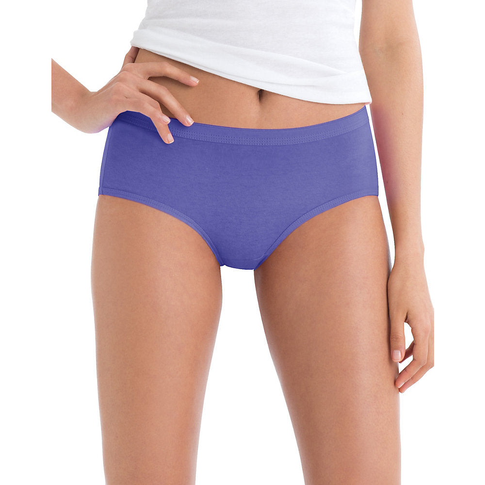Hanes Women's No Ride Up Low Rise Cotton Brief 6-Pack - PP38AS