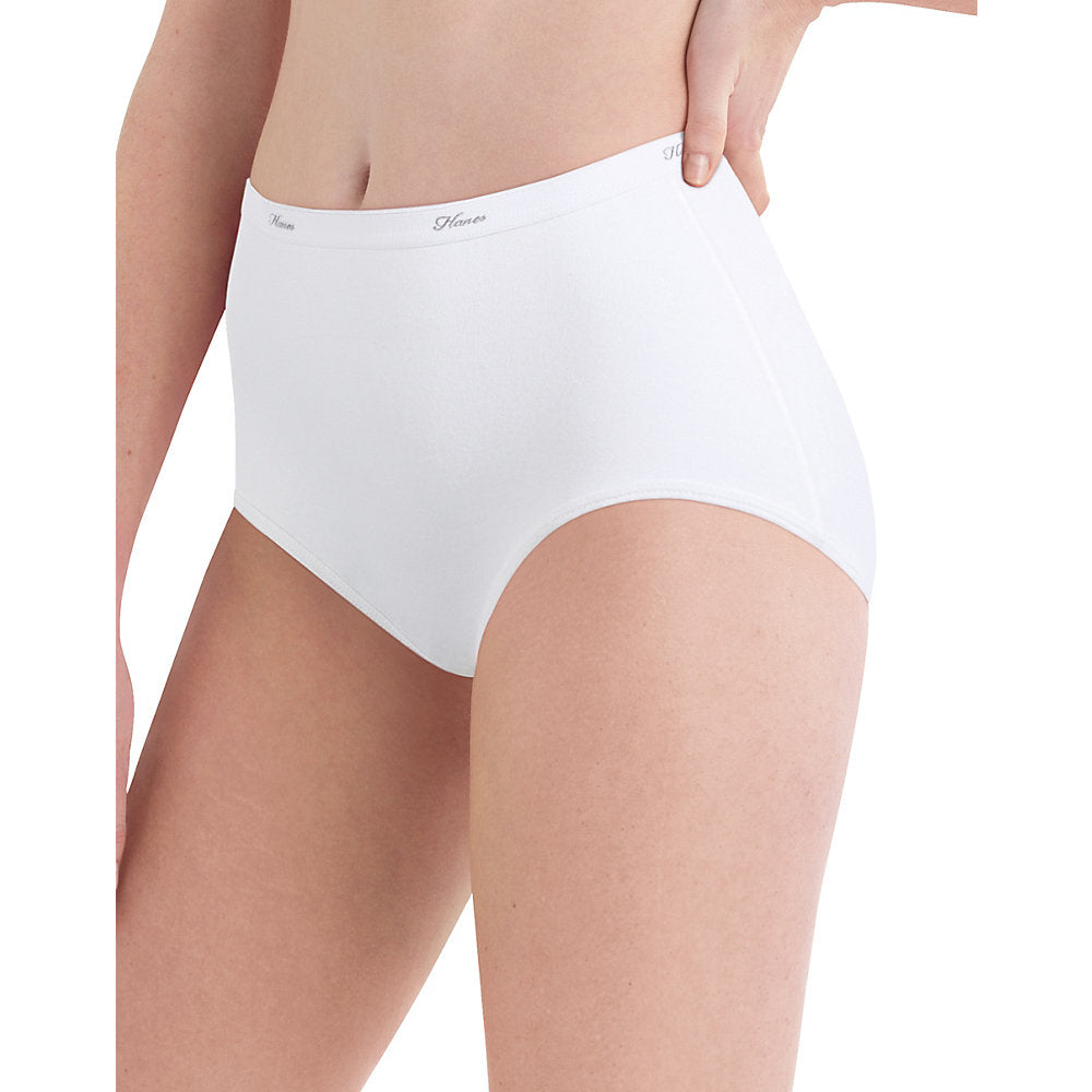 Hanes Women's Cotton Briefs with Cool Comfort Assorted 6-Pack - PP40BA