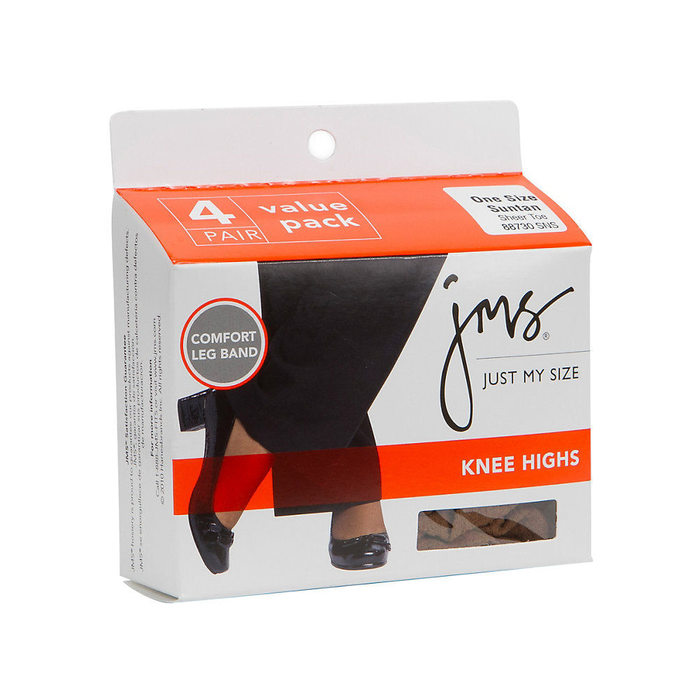 JMS Sheer Toe Knee High 4 Pack - 887S