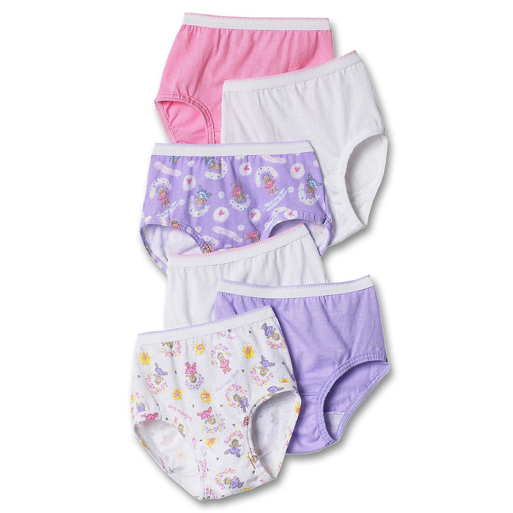 Hanes TAGLESS Toddler Girls' Cotton Briefs 6-Pack - TP30AS