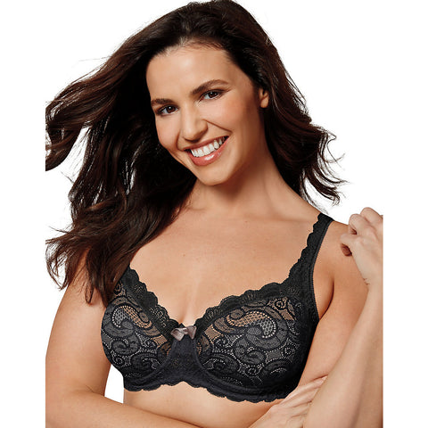 Playtex US4825 Love My Curves Beautiful Lift Unlined Underwire Bra