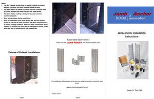 Door Jamb Repair Kit | Jamb Anchor Instructions | Rusted Door Frame Repair | Door Innovation