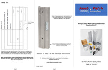 Load image into Gallery viewer, Door Jamb Repair Kit | Right Hand Hinge Jamb Patch Instructions | Rusted Door Frame Repair | Door Innovation