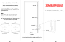 Load image into Gallery viewer, Door Jamb Repair Kit | Left Hand Hinge Jamb Patch Instructions | Rusted Door Frame Repair | Door Innovation