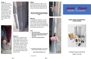 Door Jamb Repair Kit | Jamb Patch Instructions |  Rusted Door Frame Repair | Door Innovation