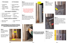 Load image into Gallery viewer, Door Jamb Repair Kit | Strike Side Jamb Patch Instructions | Rusted Door Frame Repair | Door Innovation
