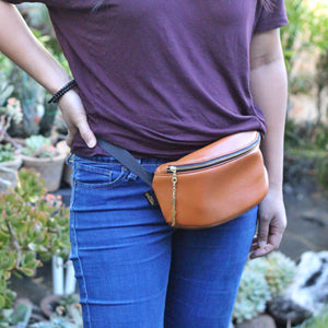 Camel Genuine Leather Hip Pack