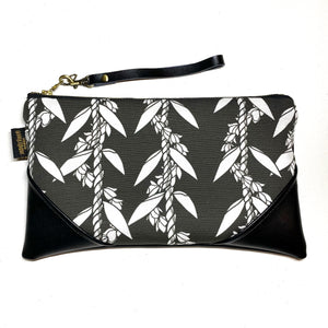 Large Lei La'i Pikake Aloha Zipper Clutch