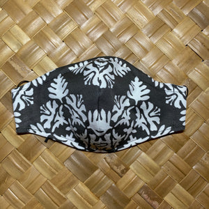 RTS Men's Hawaiian Quilt Face Mask w/Adjustable Ear Loops, Filter Pocket and Nose Wire