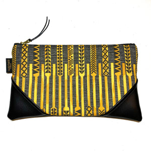 Large 'Ohe Kapala Zipper Clutch