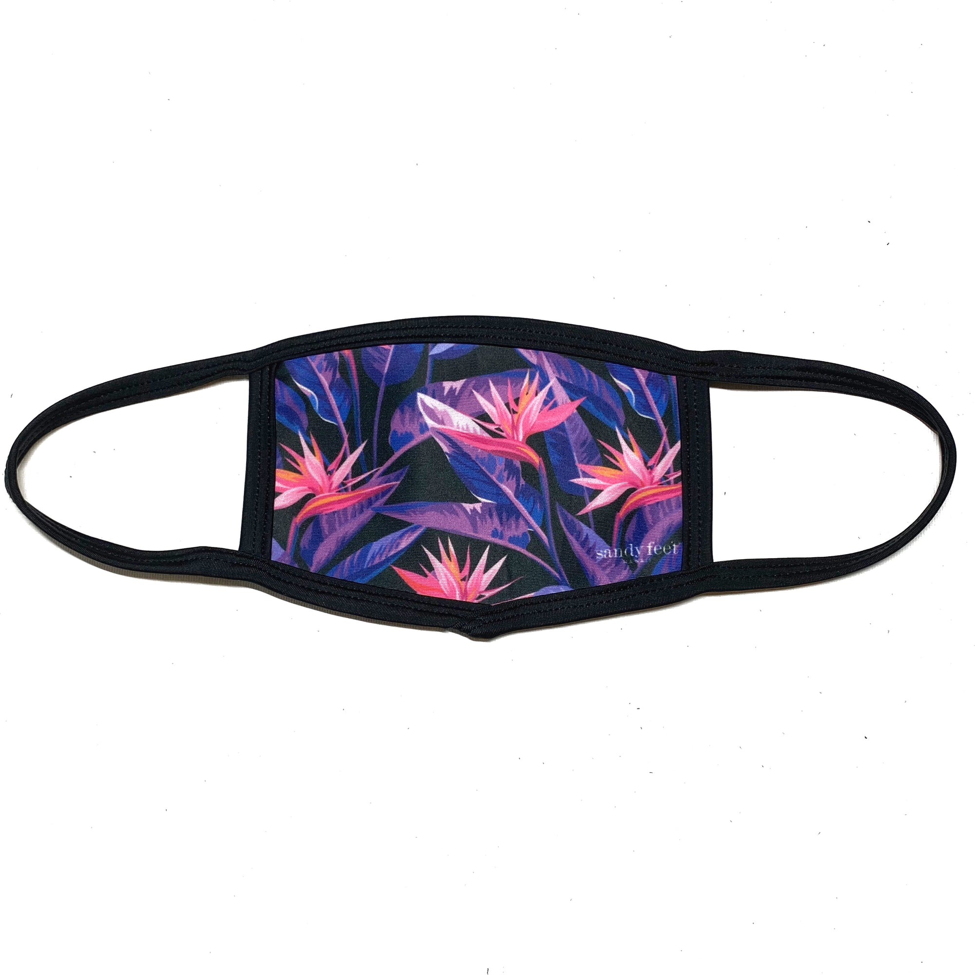 Bird of Paradise Print Face Mask