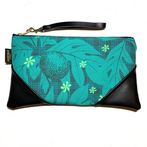 Large 'Ulu & Palaka Zipper Clutch