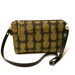 Black Sparkle Pineapple Large Crossbody