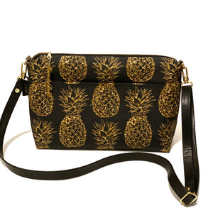 Glittery Pineapple Large Crossbody