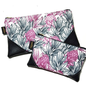Mini Protea Zipper Clutch