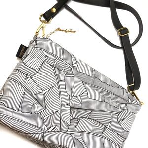White Banana Leaf Large Crossbody