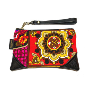 Mini Vintage Floral Zipper Clutch