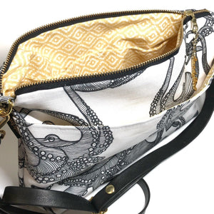 White Tako Large Crossbody