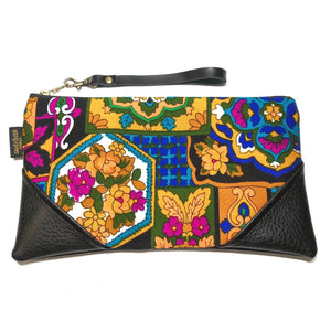 Vintage Floral - Large Zipper Clutch