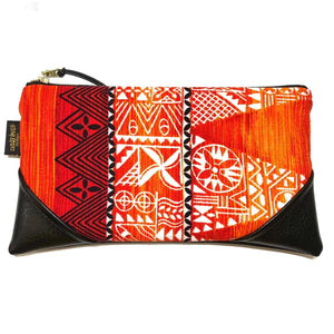 Vintage Hawaii Sunset Kapa - Large Zipper Clutch