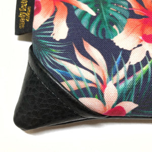 Mini Hibiscus & Orchids Zipper Clutch