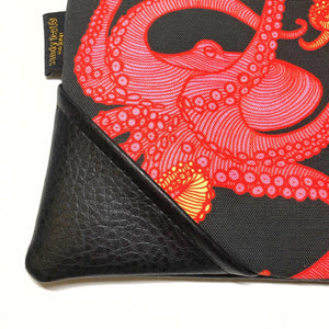 Large Limited-Edition Pink Tako (Octopus) Zipper Clutch